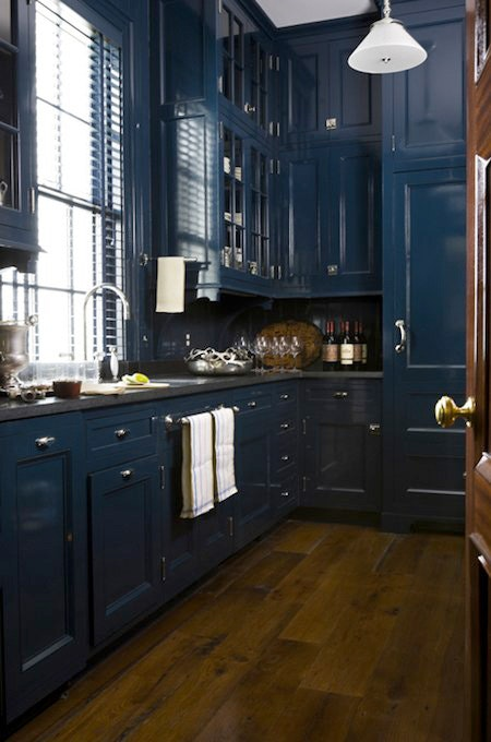 Glossy Deep Blue kitchen