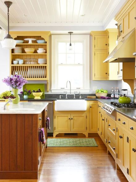 Glowing Yellow kitchen
