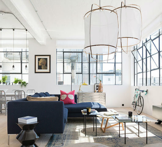Open and Bright Industrial Loft