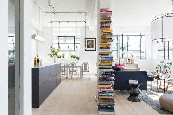 Open and Bright Industrial Loft 6
