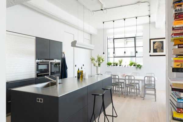 Open and Bright Industrial Loft 9