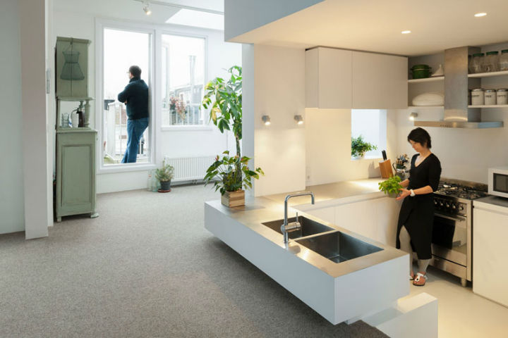 Minimalist Family Loft in Amsterdam