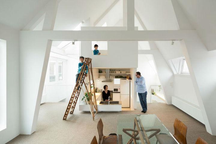 Minimalist Family Loft in Amsterdam 2