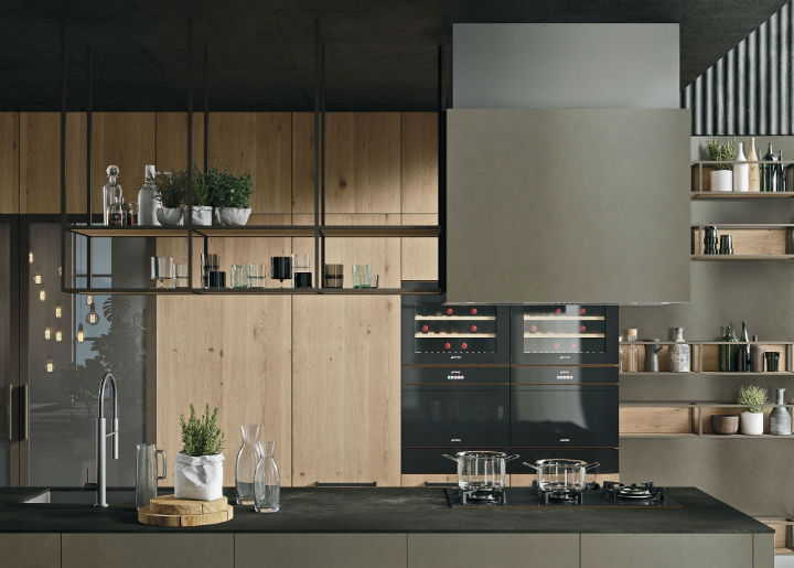 OPERA Industrial Kitchen With Island Without Handles 4
