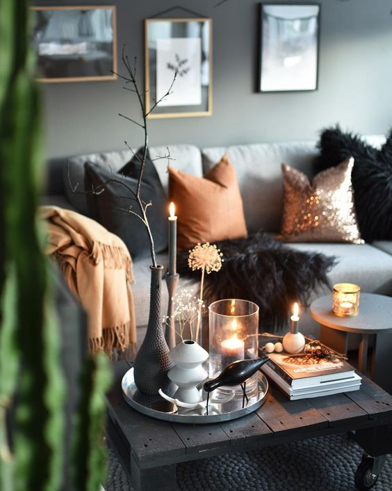 throw fall home decor ideas