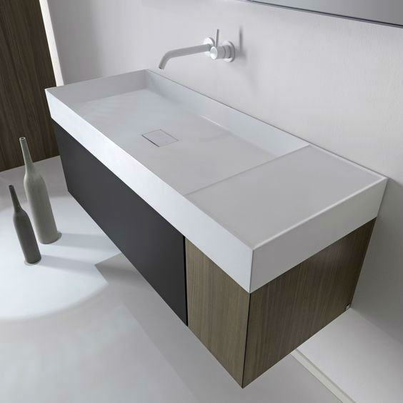 Elegant Modern Washbasin Designed With a Unique and Original Line 3