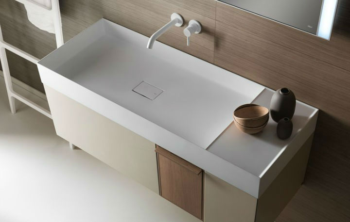 Elegant Modern Washbasin Designed With a Unique and Original Line