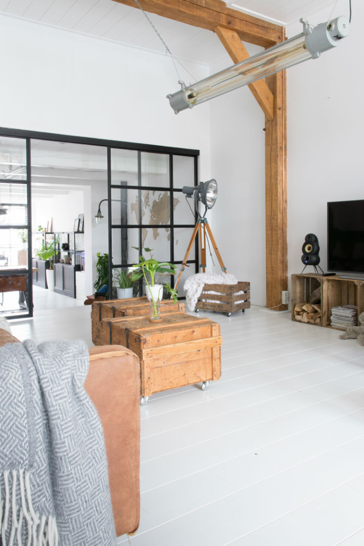 White Interior With Industrial Flair 15