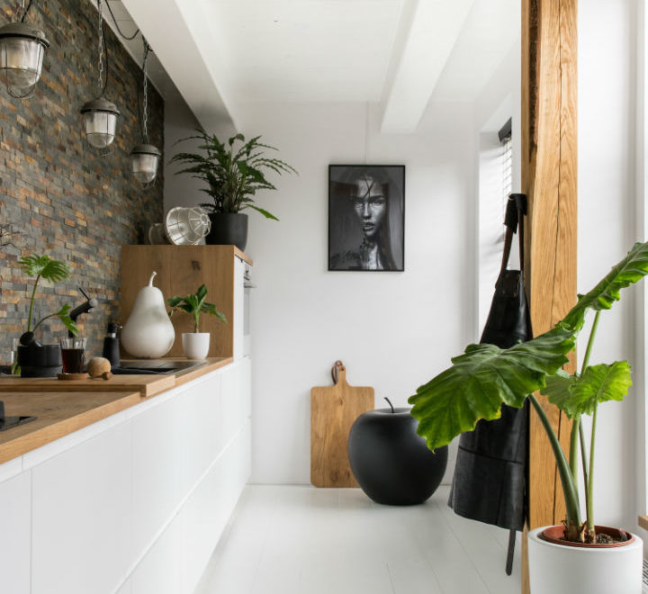 White Interior With Industrial Flair