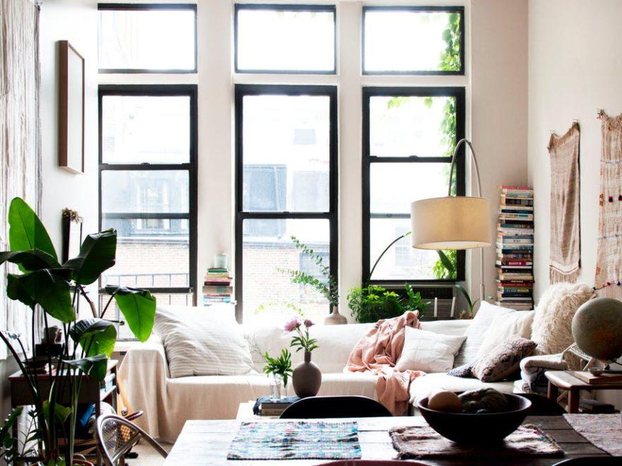 beautiful bohemian apartment interior