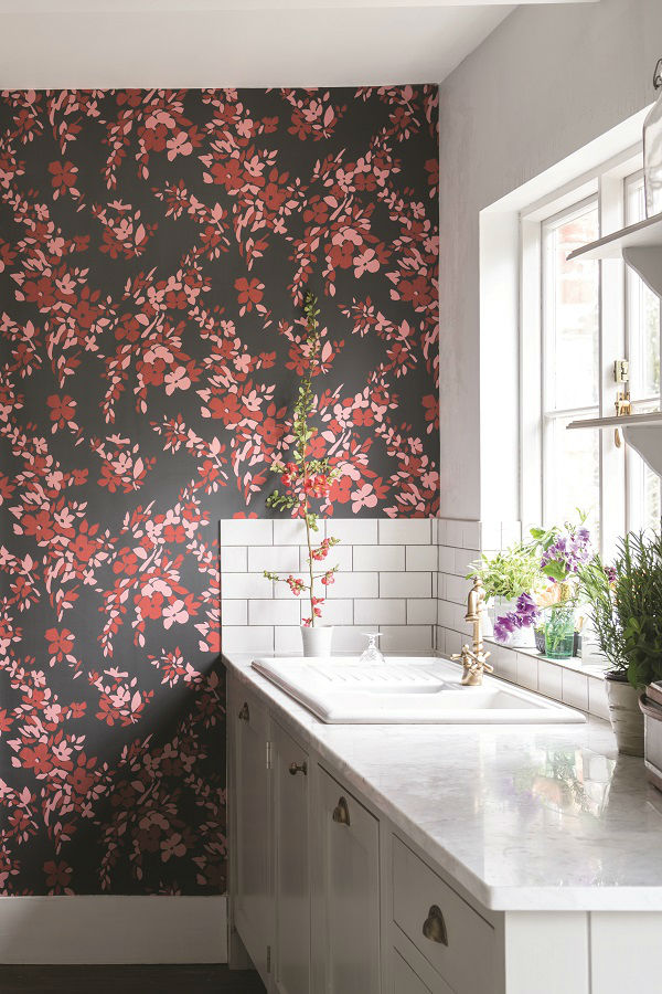 floral wallpaper by Farrow and Ball 4