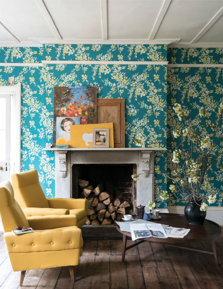 floral wallpaper by Farrow and Ball 5