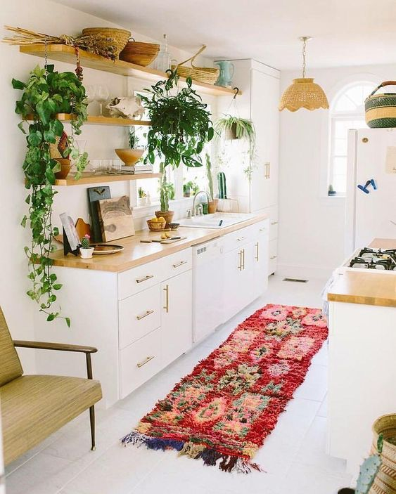 bohemian kitchen design idea 11