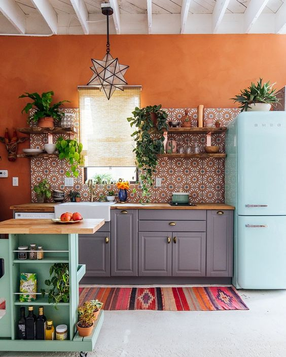 bohemian kitchen design idea 9