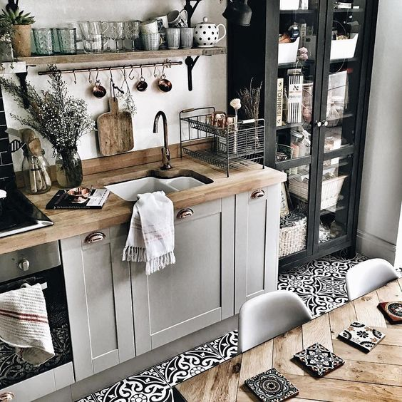 bohemian kitchen design idea 12