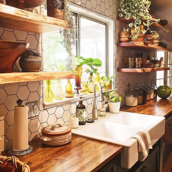 bohemian kitchen design idea 16
