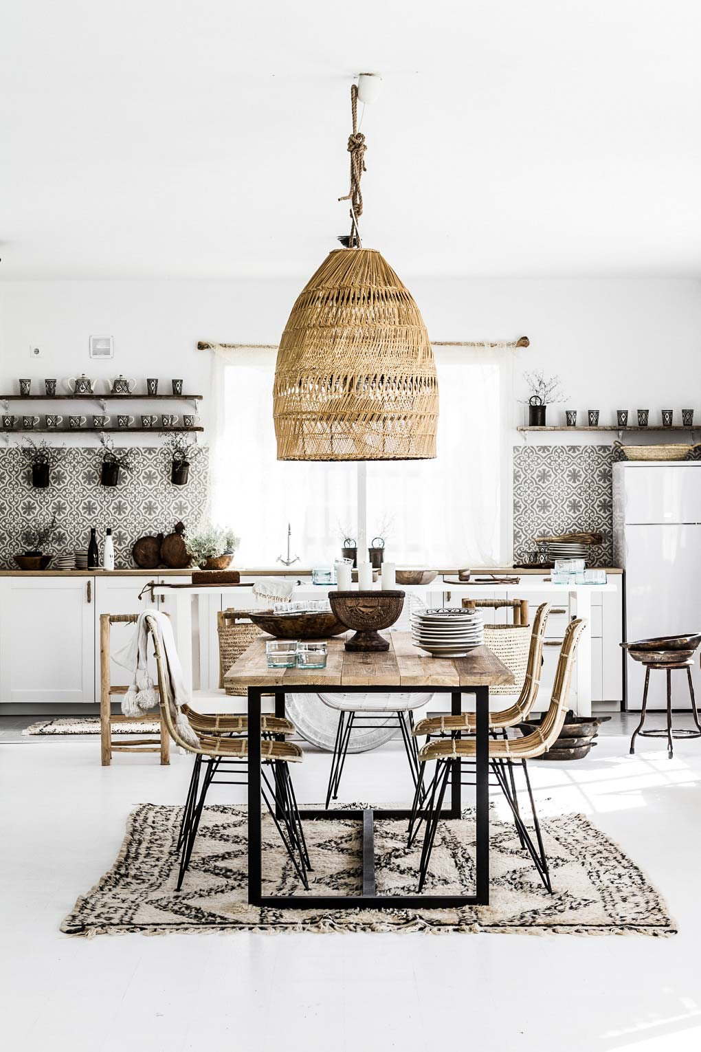 21 Bohemian Kitchen Design Ideas