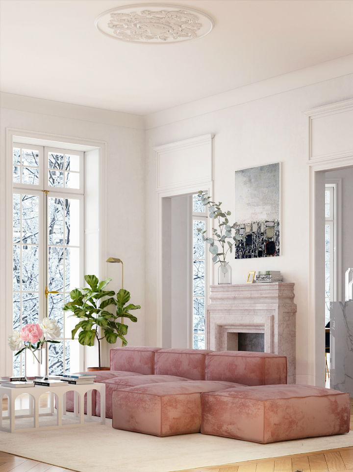 elegantly designed Parisian apartment by Crosby Studios  5