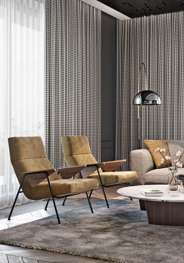 contemporary masculine apartment interior design 7