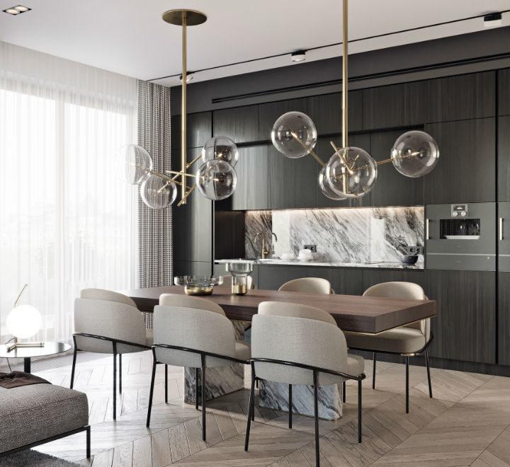 contemporary masculine apartment interior design