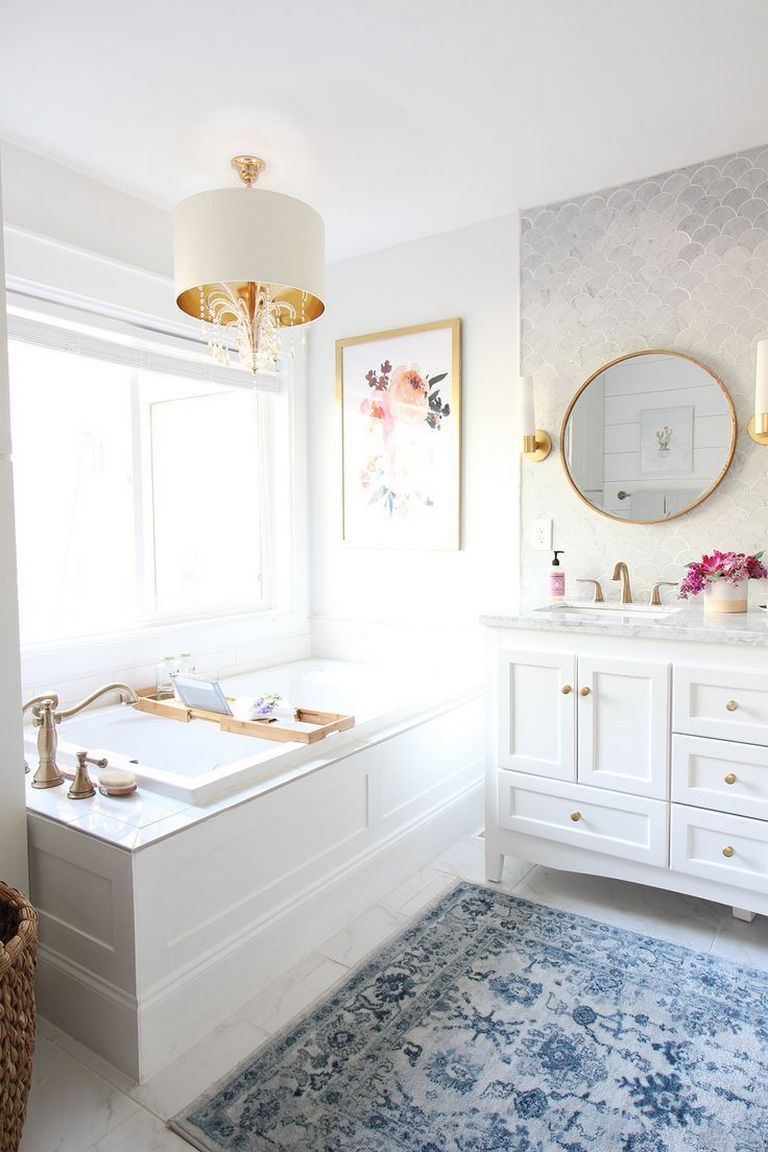 Bathroom Ideas With Gold Touches 35
