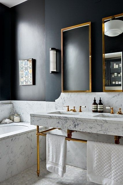 Bathroom Ideas With Gold Touches 36