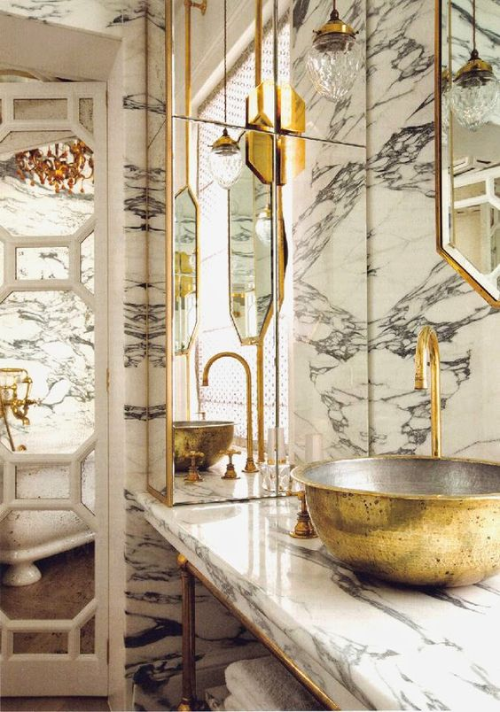 gold bathroom 43