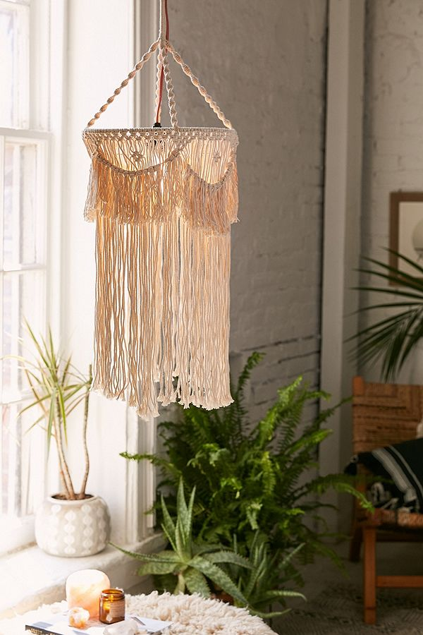 macrame bohemian lighting idea
