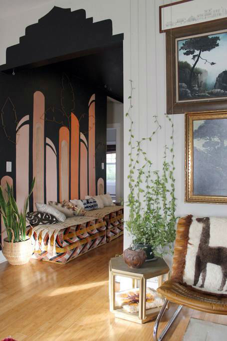 eclectic bohemian home decor idea 11