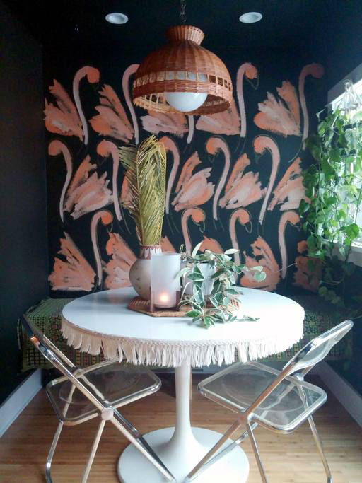 eclectic bohemian home decor idea 9