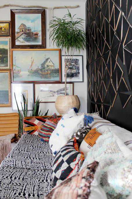 eclectic bohemian home decor idea 6