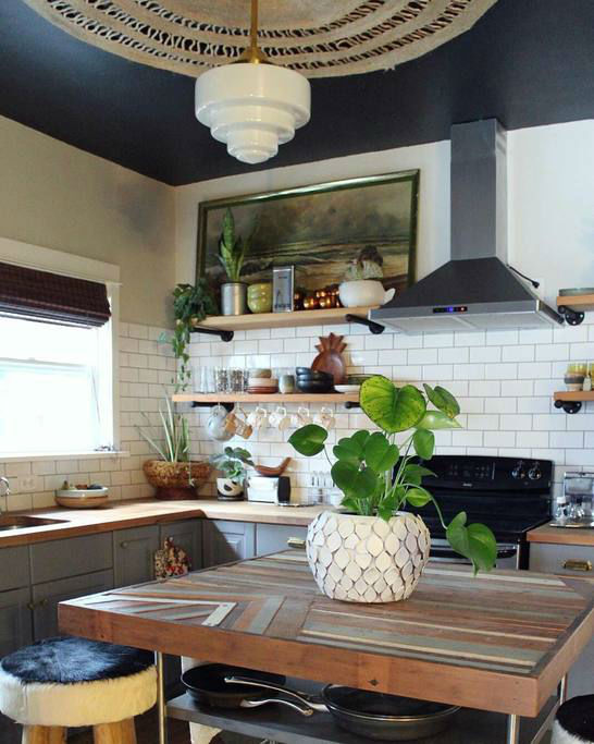 eclectic bohemian kitchen idea