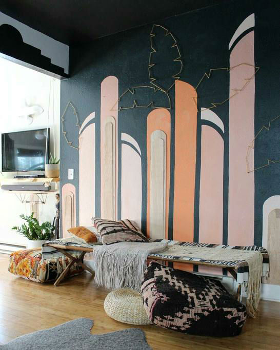eclectic bohemian home decor idea 4