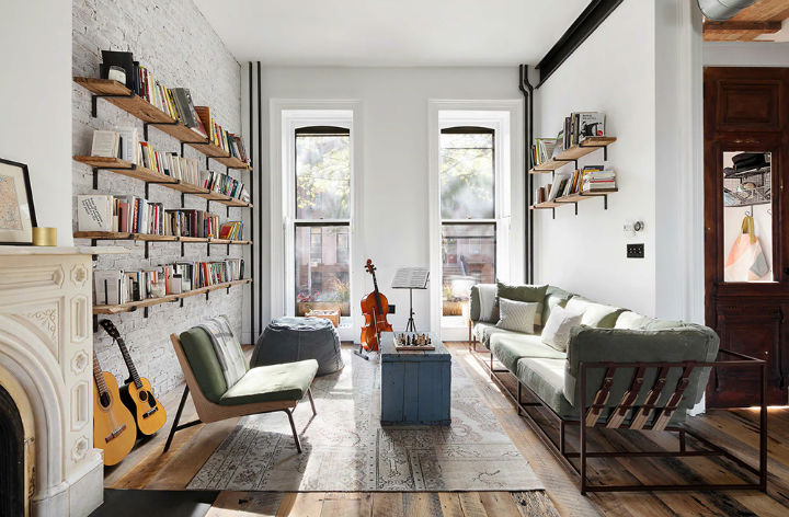 Clinton Hill Townhouse Light Airy Aesthetic