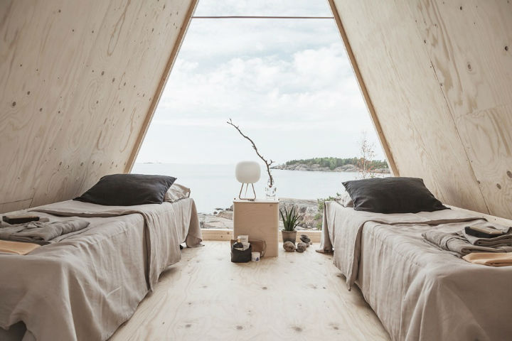 Solar-Powered A-Frame Cabin With Stunning View