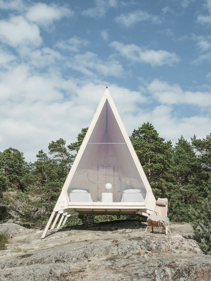 Solar-Powered A-Frame Cabin With Stunning View 6