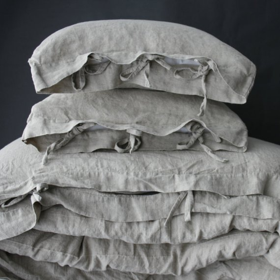 gray linen duvet cover set