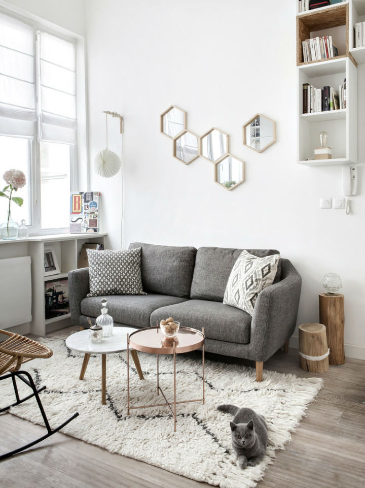 tiny white loft interior design 2