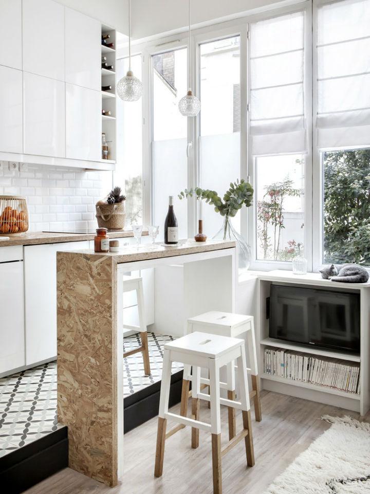 tiny white loft interior design 3