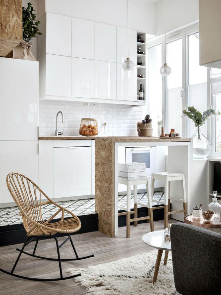 tiny white loft interior design 6