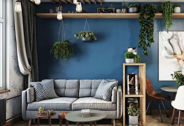Tiny Masculine Apartment On a Budget