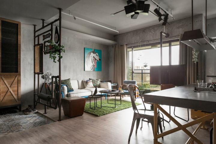 contemporary family apartment interior design 4