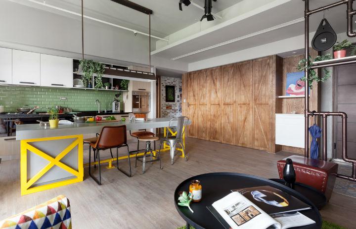 contemporary family apartment interior design 6