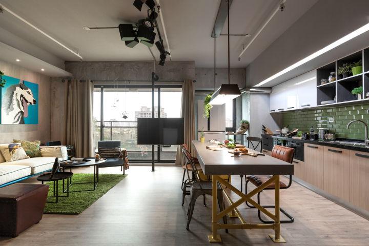 contemporary family apartment interior design 8