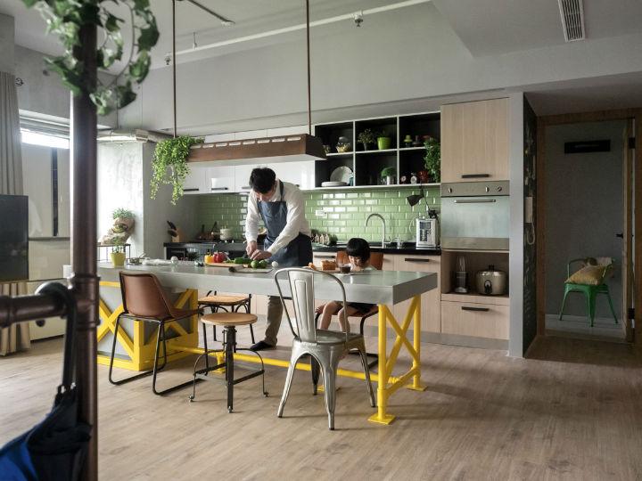 contemporary family apartment interior design 9