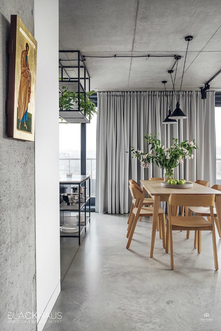 contemporary concrete house interior design 11