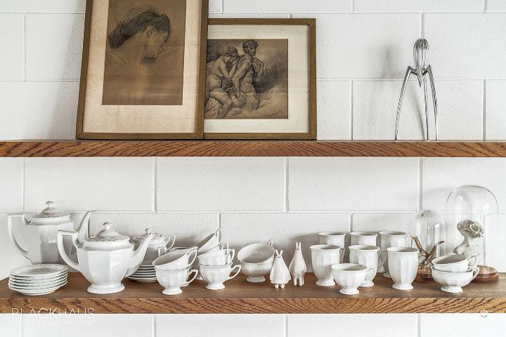kitchen open shelves decor
