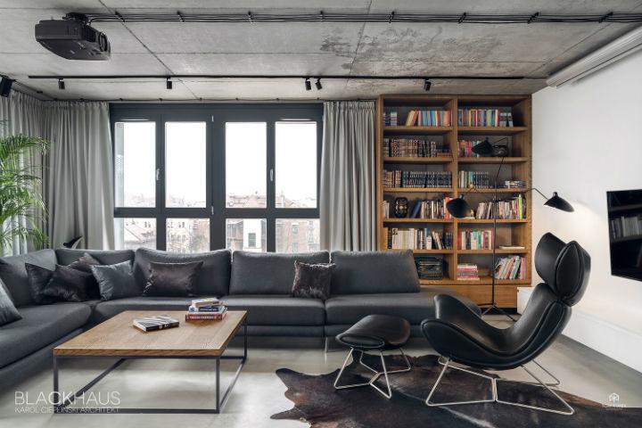 contemporary concrete house interior design 6
