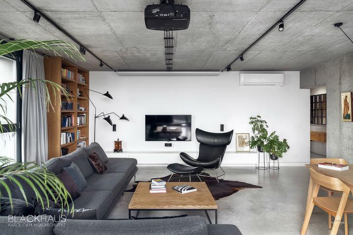 contemporary concrete house interior design 7