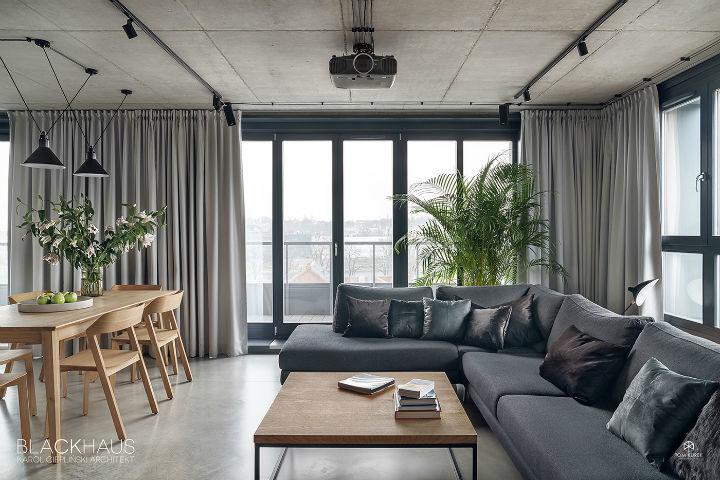 contemporary concrete house interior design 8